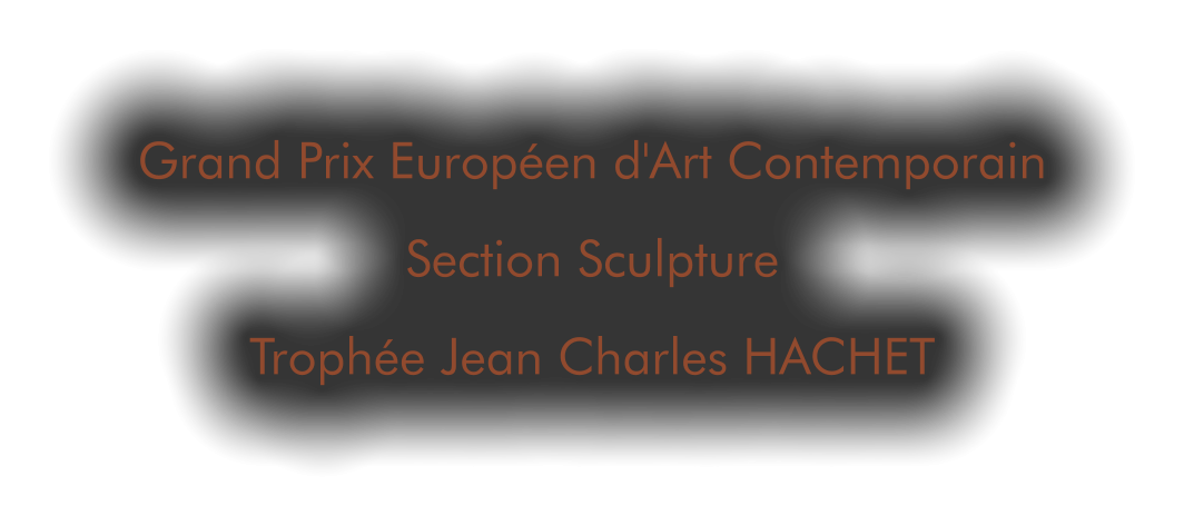 Grand Prix Européen d'Art Contemporain Section Sculpture Trophée Jean Charles HACHET